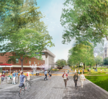 Artist rendering of the University Promenade