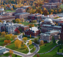 Aerial view of Syracuse University