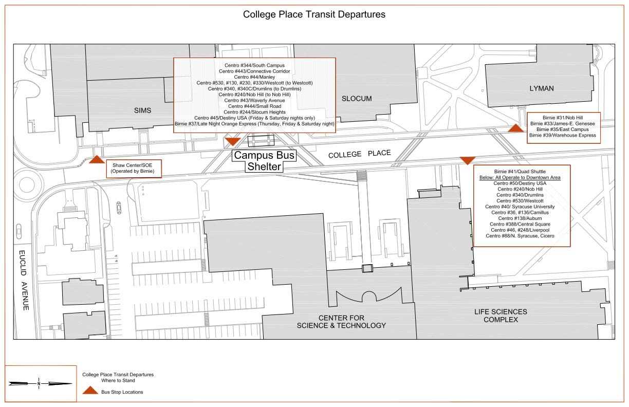 New College Place Bus Stops
