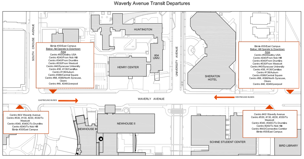 Waverly Avenue Transit Departures