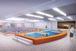 Rendering of a pool